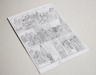 SALITRE / Original page in pencils SALITRE