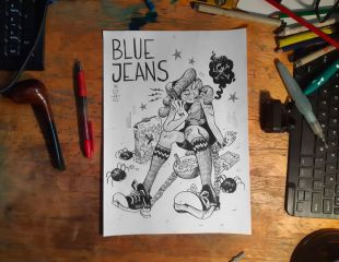 BLUE JEANS / Comic + Artbook + Commission B&W BLUE JEANS