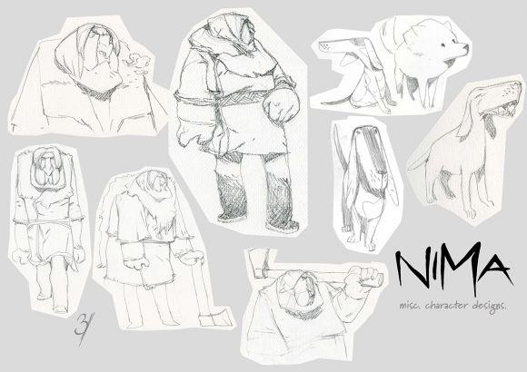 Diseño de personajes para Nima
