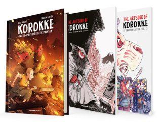 KOROKKE Y EL ESPÍRITU BAJO LA MONTAÑA + Artbook Vol.1 y Vol.2 KOROKKE ET L'ESPRIT SOUS LA MONTAGNE
