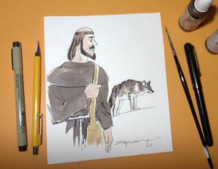ASÍS / Cómic + Dibujo Original ASÍS
