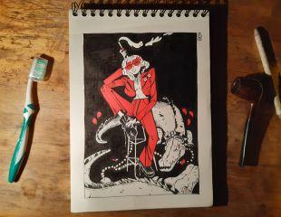 BLUE JEANS / Comic + Artbook + Commission 2 inks BLUE JEANS